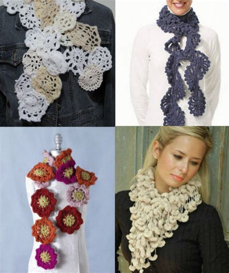 25 different ideas for crocheting a scarf