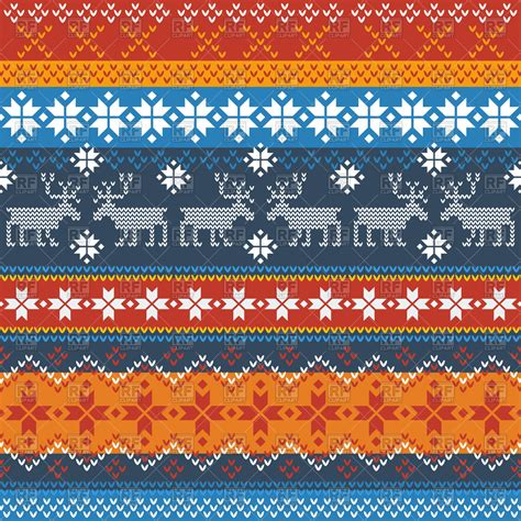 norwegian pattern name traditional norwegian pattern with reindeer and snowflakes