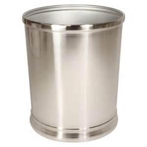 interdesign bathroom wastebasket silver nickel target