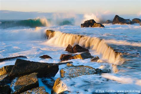 waves crashing at forresters beach print photos fine