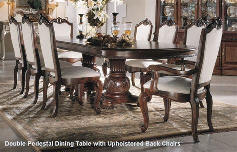 bobs dining room sets american drew bob mackie seven piece double pedestal table