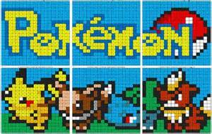 pokemon color number coloring squared