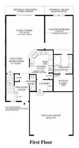 1st Floor Master Floor Plans by Newtown Woods Townhome Collection The Tamarack Home Design