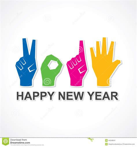 happy new year 2015 vector free creative happy new year 2015 design with finger stock