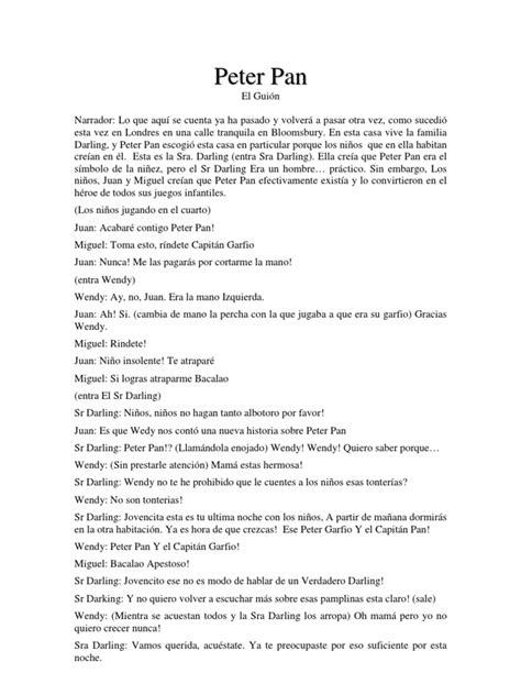 el guion story sustancia 848428168x peter pan libreto walt disney