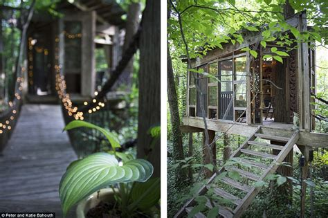 airbnb luxury treehouse in atlanta perches among 150 year