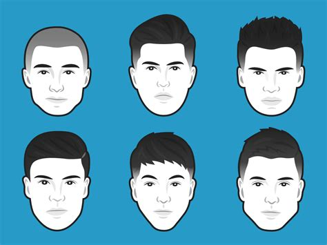 hairstyles for different head shapes mens hairstyles for head shapes best hair style