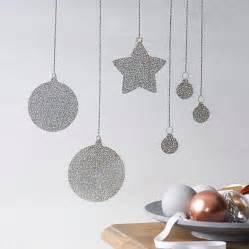 glitter baubles wall sticker by nutmeg