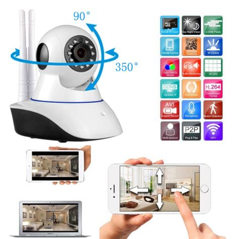 Ip Cctv Dual Antenna 2 Antena 720p Hd Ir Nig Murah 720p hd antenna wifi security ip alarm system white tmart