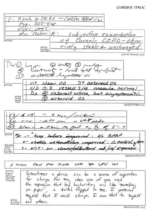 handwriting exles