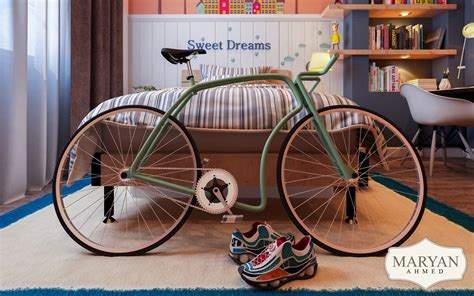 indoor bicycle storage dark themed kids rooms