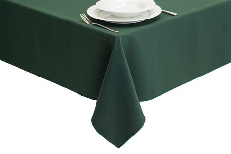 Green Forest Table Cloth 110160 forest green direct linen
