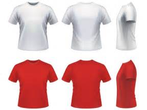 vector realistic t shirt template free download t shirt