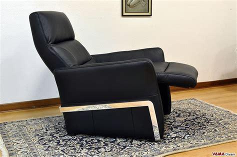 poltrona pelle nera poltrona manuale vama divani