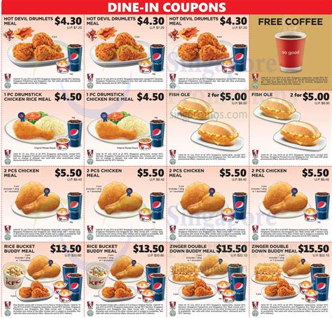 printable food coupons australia all dine in coupons printable 187 kfc dine in discount