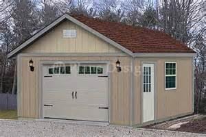 16 x 24 car garage or workshop project plan design 51624