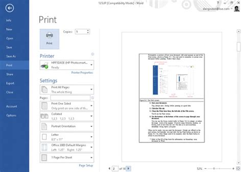 printable area word mac how to preview your word 2013 document before printing