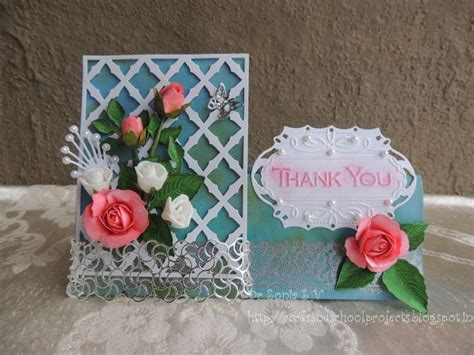 Paper Roses For Card - cards crafts projects easy paper tutorial