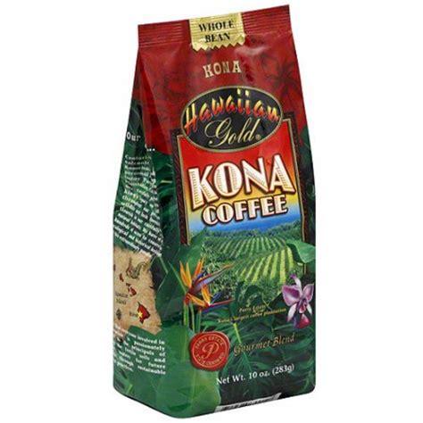 Hawaiian Gold Kona Coffee Beans, 10 oz (Pack of 6)   Walmart.com