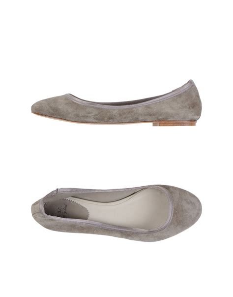 gray flats shoes ndc gray ballet flats lyst