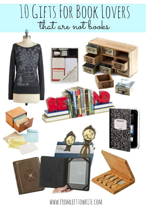 plenty of gift ideas for book lovers from left to write