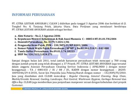 company profile cleanindo