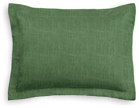green linen sham pillow cover modern pillowcases