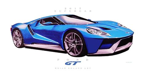 supercar drawing 2017 ford gt supercar drawing by brian roland
