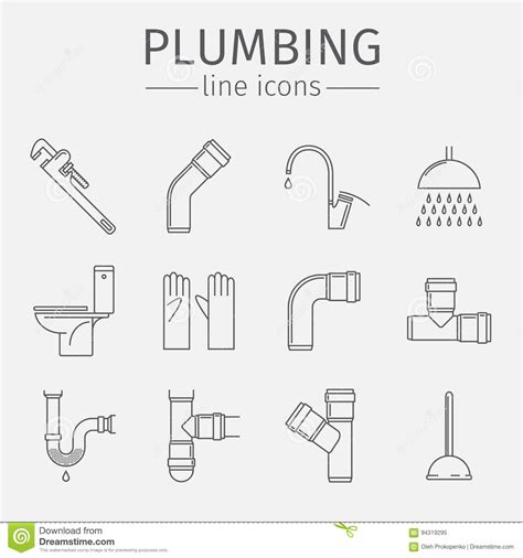 Line Plumbing by Pipeline Illustrations Vector Stock Images 9124 Pictures To From