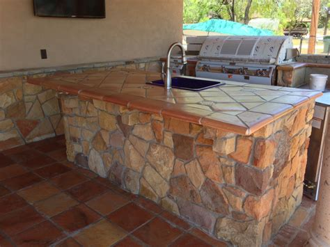Outdoor Countertop Tile by Terra Cotta Saltillo Tile Used As Counter Top Application