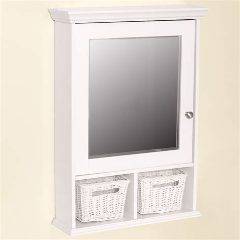 White Framed Recessed Medicine Cabinet by White Framed Recessed Medicine Cabinet Wood Framed