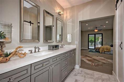 J&K Greige Bathroom Vanity & Quartz Countertops in