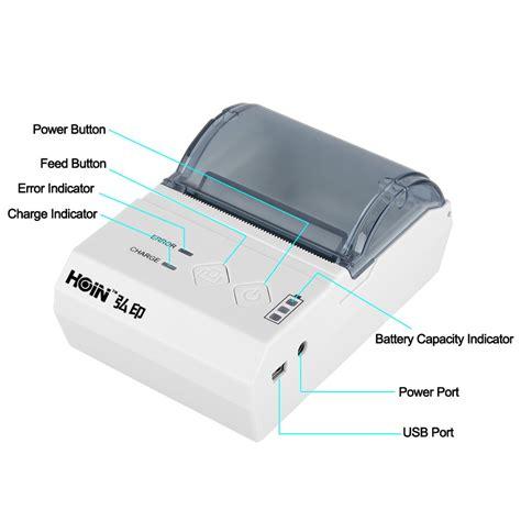 Printer Pos Thermal Receipt 57 5mm handheld 58mm mini pos receipt printer pos58 no moq