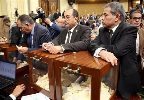 Mba Cairo 2016 by Tawfik Okasha Right Looks On At A Vote To Choose The