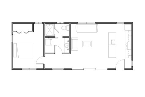 Small Space Floor Plans Gallery La Arboleda Retreat Cabin Reclaimed Space
