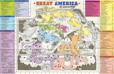 california s great america map california s great america 1988 park map