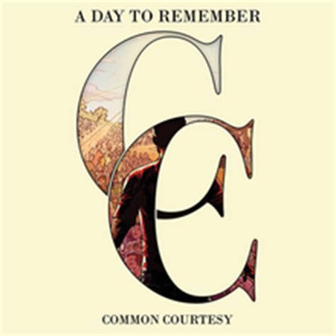 Kaos Original A Day To Remember common courtesy album