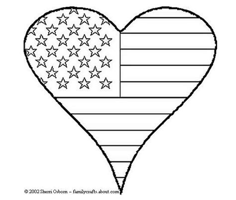 red heart coloring page 20 free 4th of july printable games and decor tip junkie
