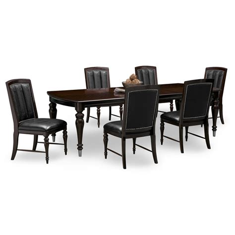 dining room table with 6 chairs esquire table and 6 chairs cherry american signature