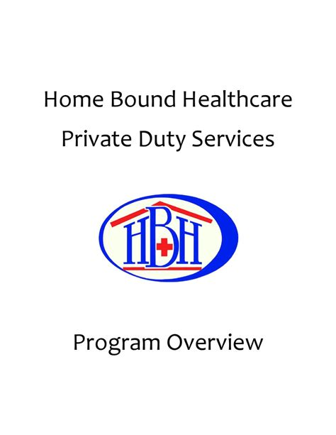 duty program overview by home bound healthcare issuu