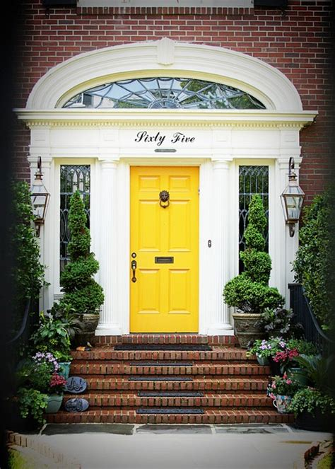Yellow Front Door The Yellow Front Door A Cheerful Entrance