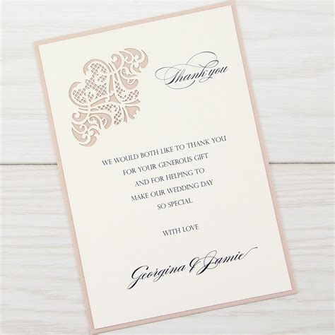 thank you card for wedding invitation josephine thank you card invitation wedding invites