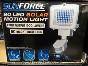 solar lights costco sunforce 80 led solar motion light