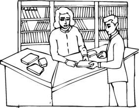 library fun colouring pages