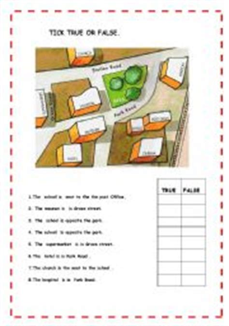 printable activities about giving directions english worksheet giving directions 1