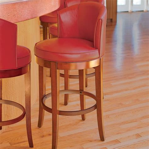 Leather Counter Stools With Backs Manchester Faux Leather Swivel Bar Stools Other Bar