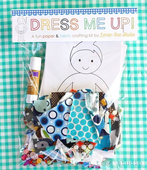 Paper Doll Craft Ideas - dress me up 169 a paper fabric doll craft kit for