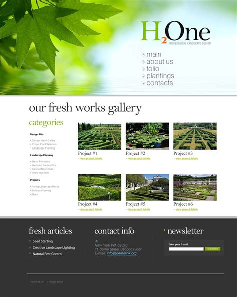 template monstor landscape design joomla template 35202