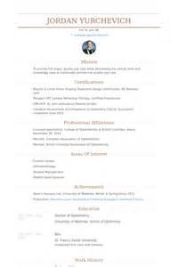 example resume optometrist cv example