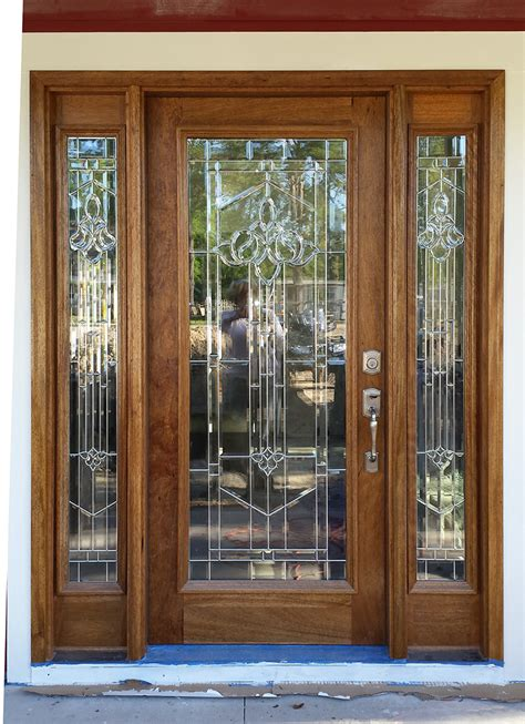 exterior entry doors with glass exterior doors with sidelights solid mahogany entry doors